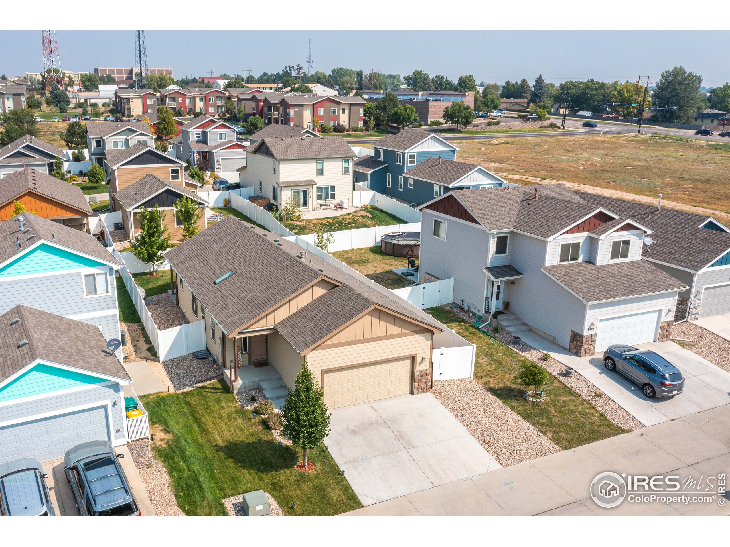 Left Aerial View of Property