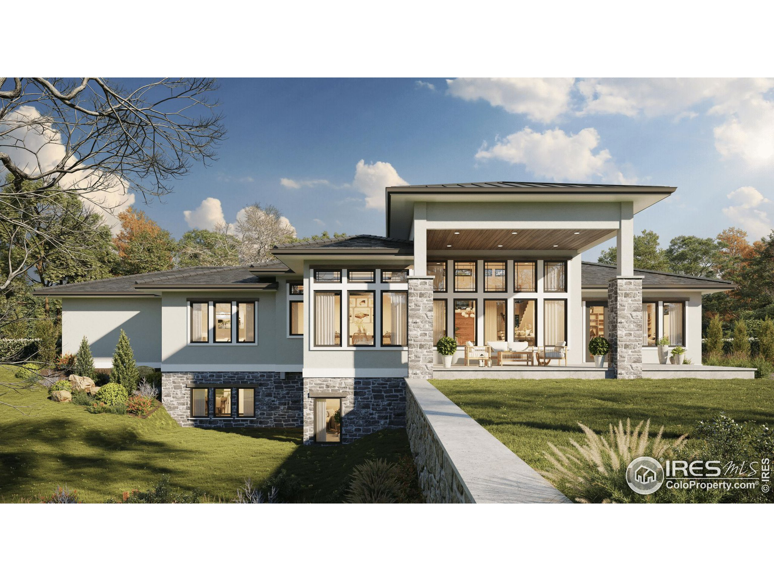 Rear Rendering of Home To-Be-Built