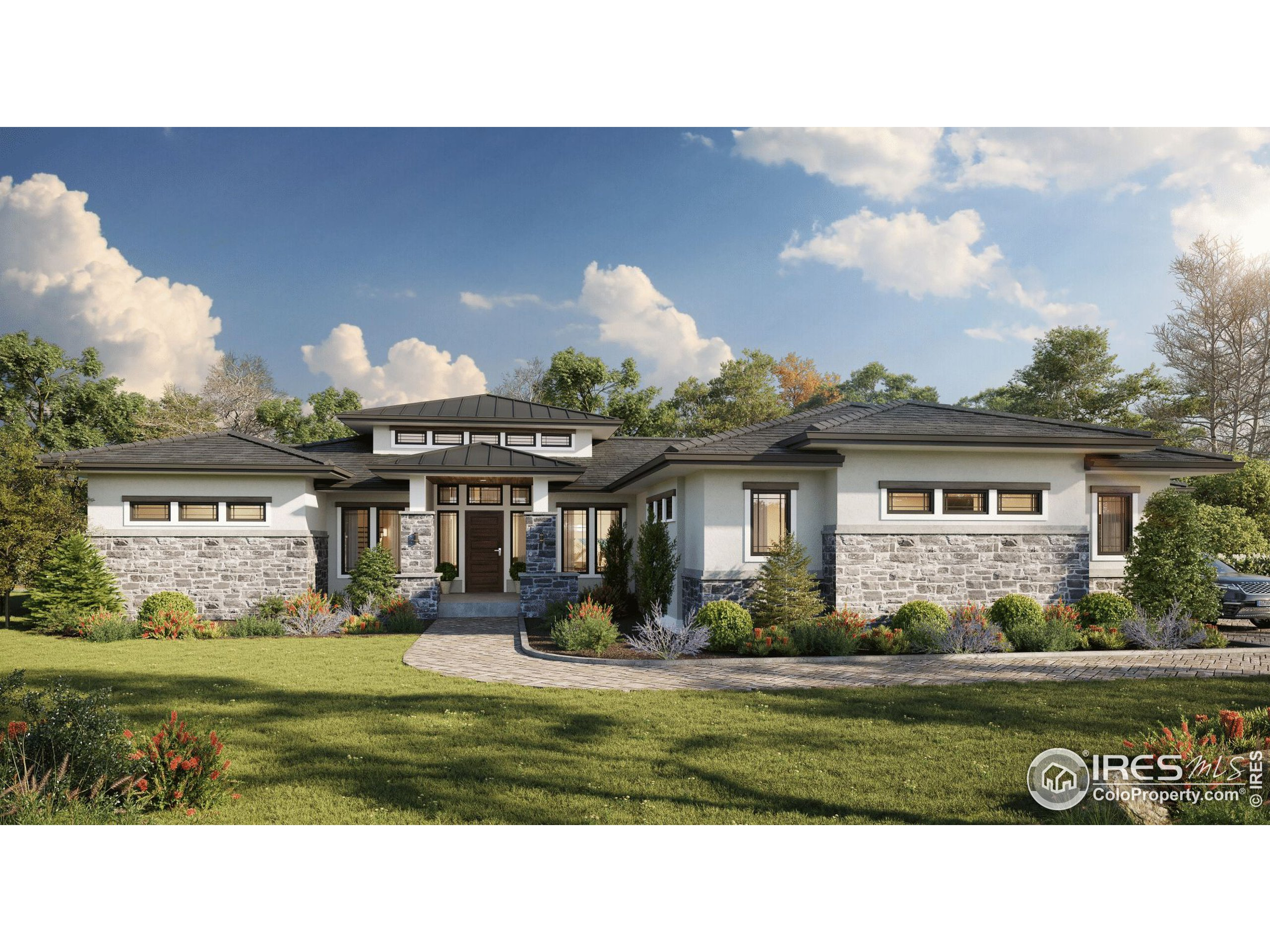 Front Rendering of Home To-Be-Built