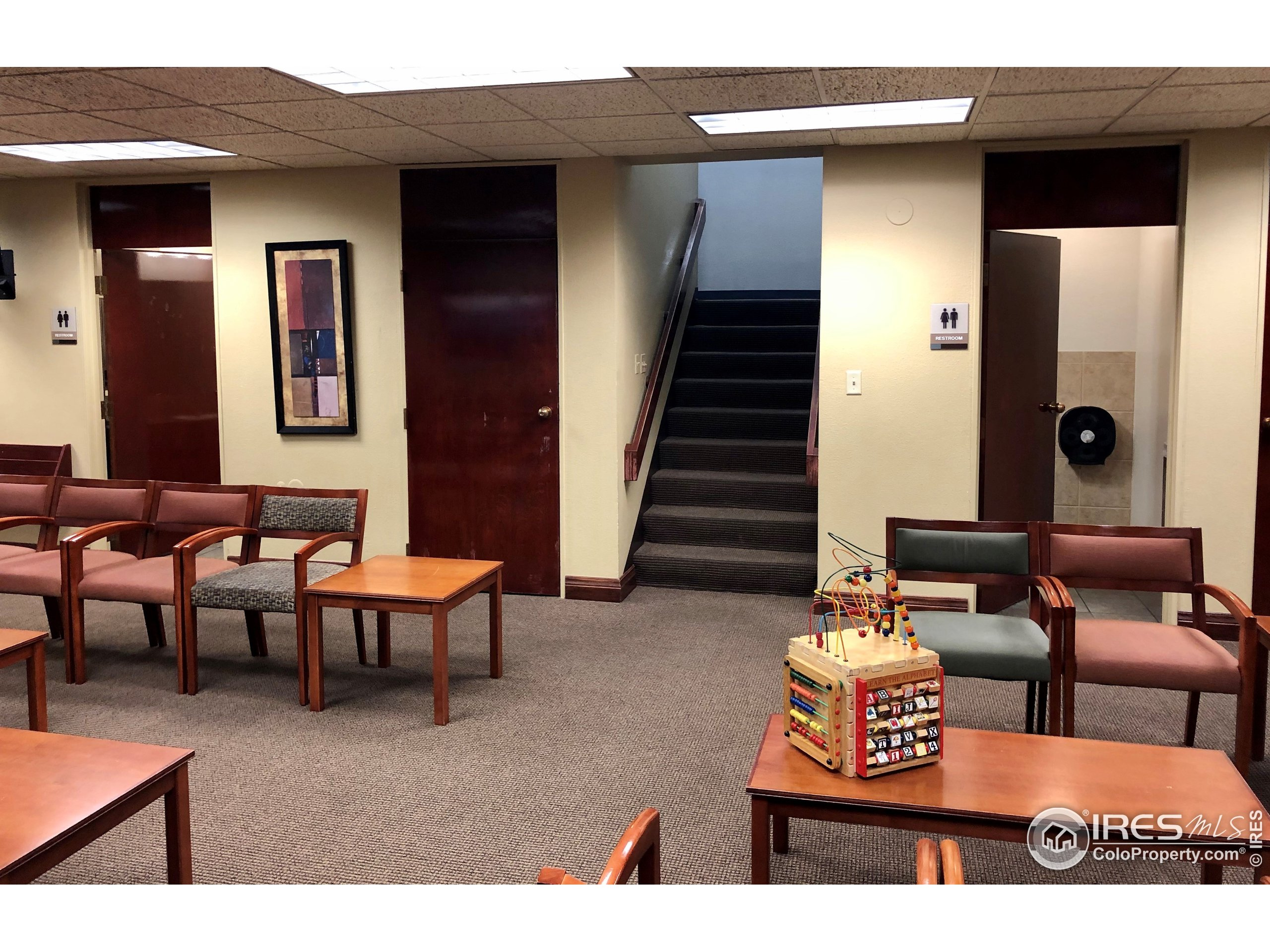 common area waiting room/restrooms