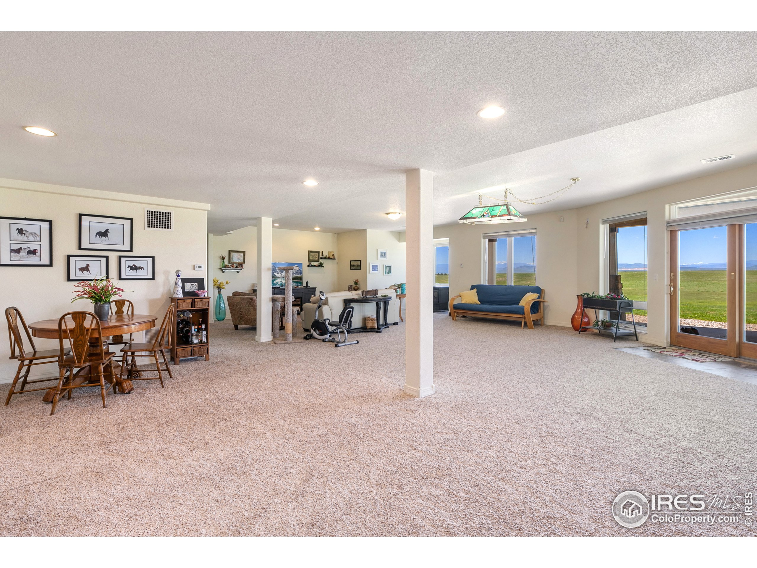 Fully finished downstairs walk out basement with separate entrance for Mother in law, Renter, horse trainer, staff...