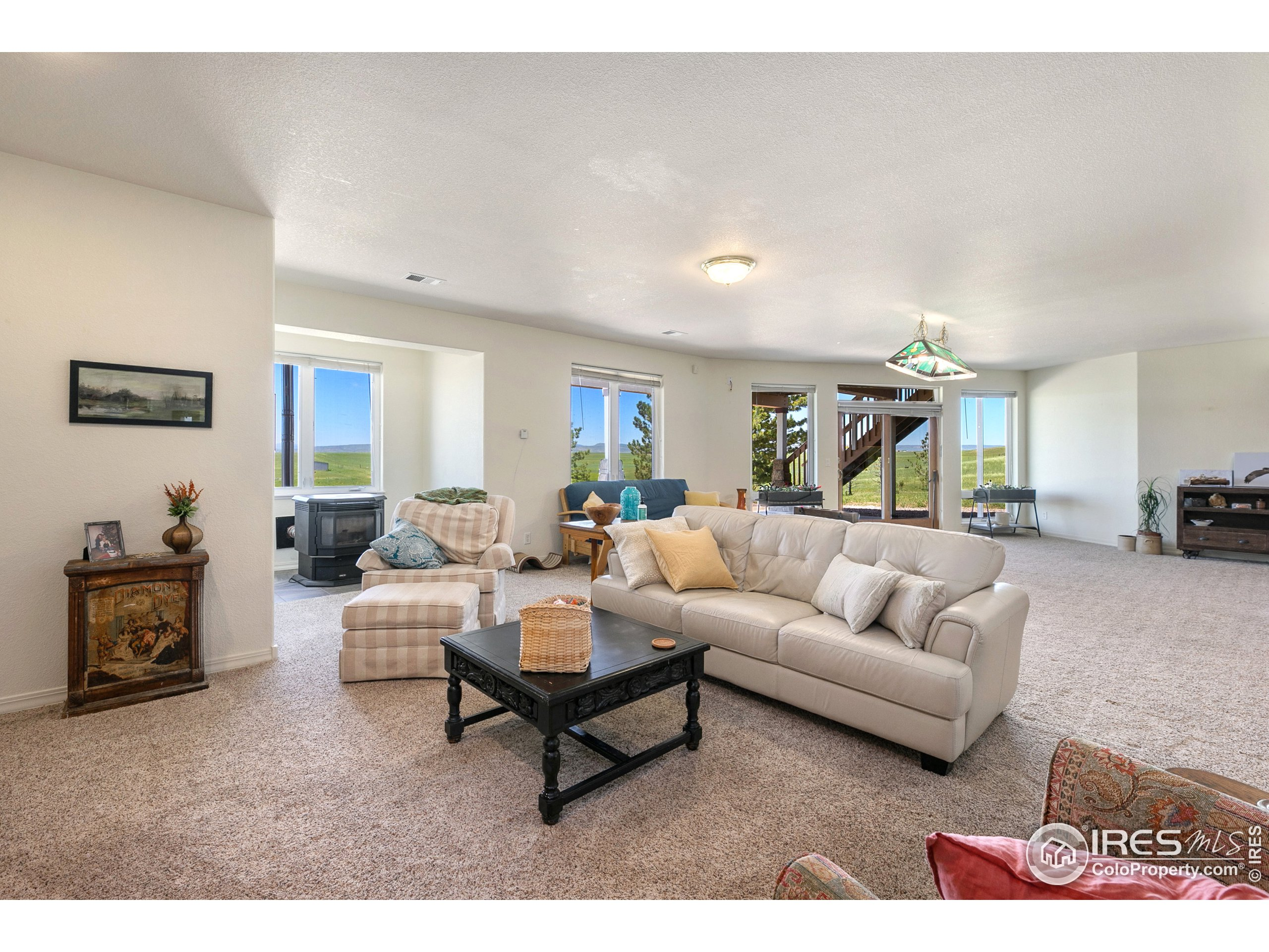 amazing living space in basement with full mountain views!