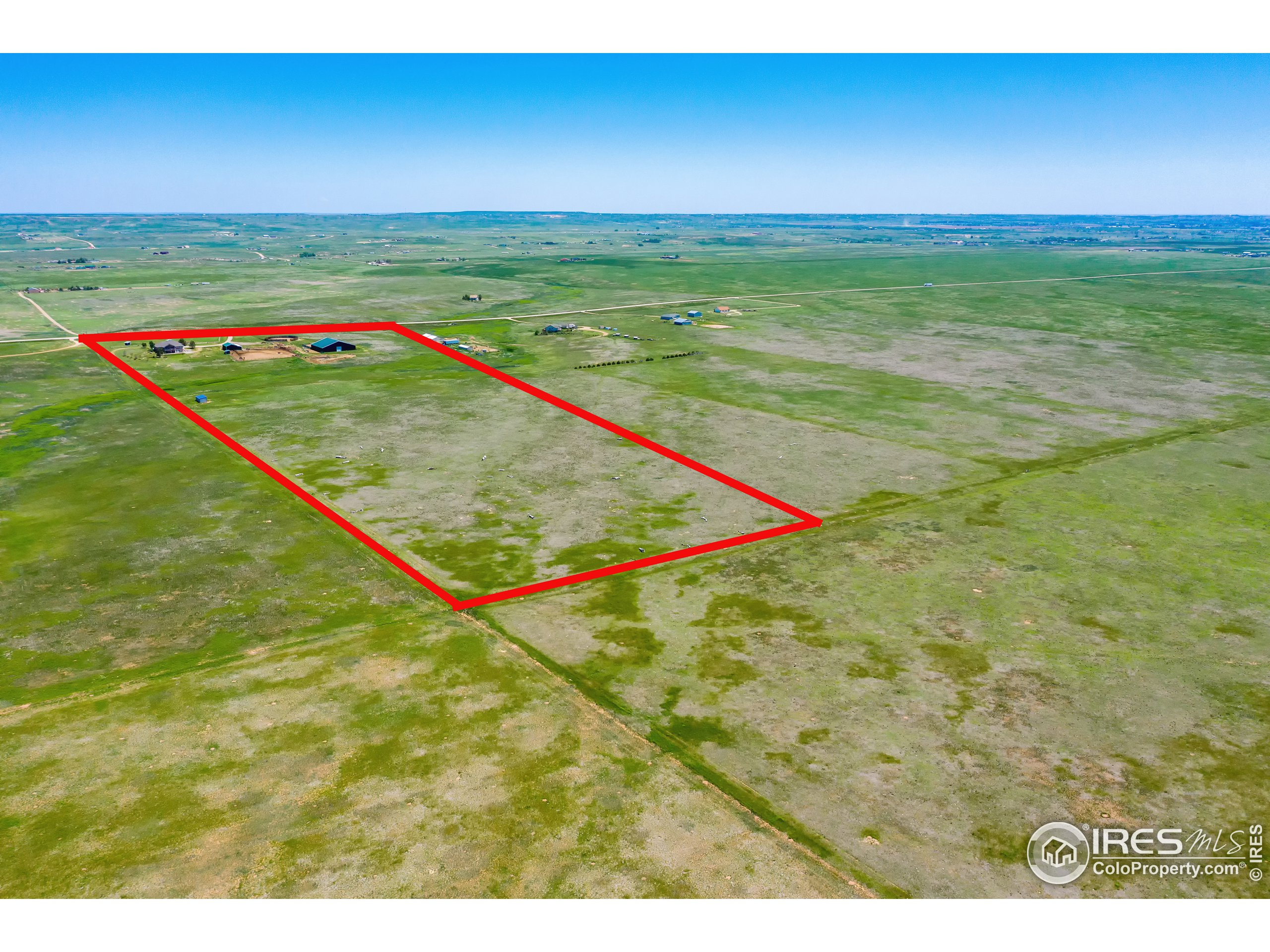 total property outline of all 56.7 acres
