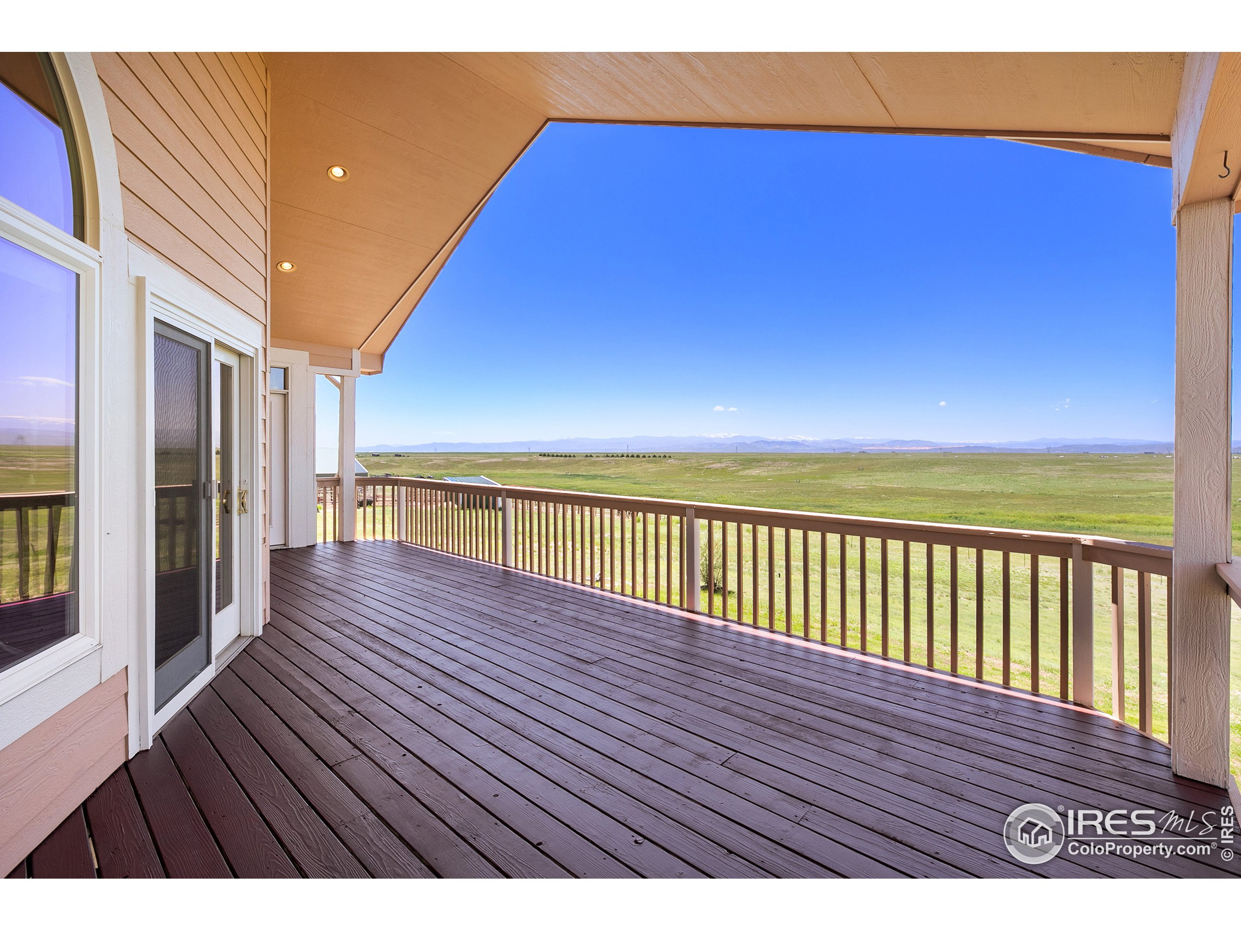 upstairs covered deck looking Southwest with outrageous mountain views!