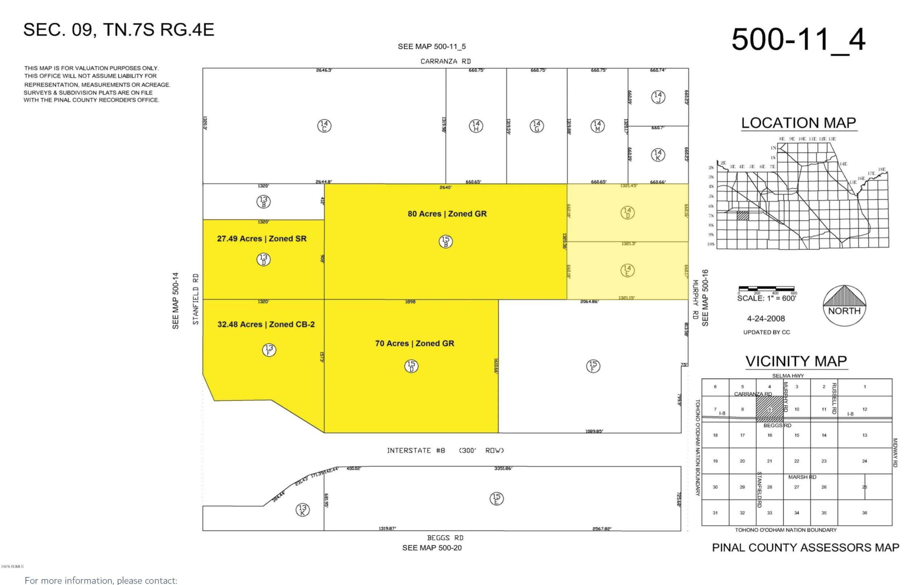 0 E Stanfield Road # 0, Stanfield, Arizona 85172, ,Land,For Sale,0 E Stanfield Road # 0,6067092