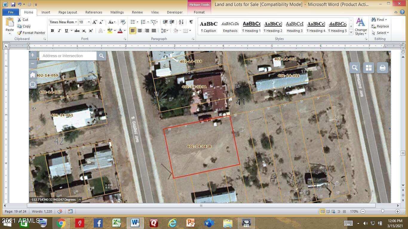 513 S CAPITOL Avenue # 7, Gila Bend, AZ 85337, ,Land,For Sale,513 S CAPITOL Avenue # 7,6207590