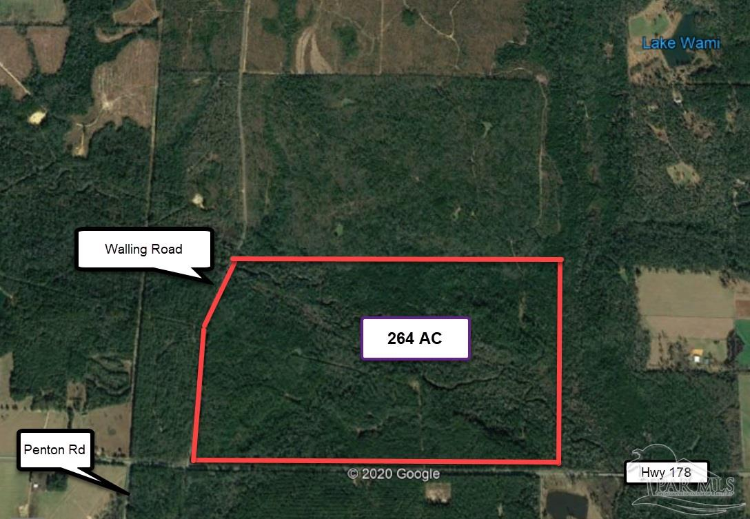 The property lies East of Walling Road as it runs north from Spanish Trail, Highway 178. Walling Road is a paved County Road. The South and West boundaries of this parcel are paved public roads. The head waters of Coldwater Creek cross the southern quadrant of the parcel in a southeasterly direction. Near the section line between Sections 19 and 20, just north of Spanish Trail, the Coldwater joins Juniper Creek. The water feature adds a dimension to this parcel not easily duplicated.