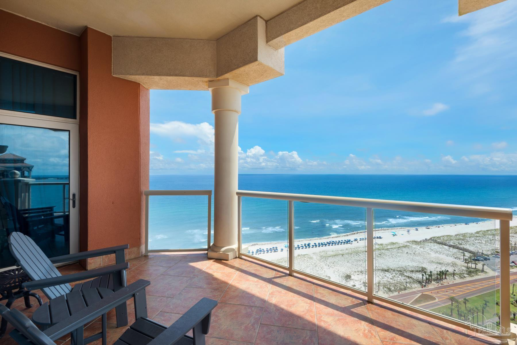 Don't miss this Tower 3 PENTHOUSE!! Beautifully decorated with Swarovski crystal chandelier. Portofino is one of the premier properties on Pensacola Beach. This unit has spectacular views of the Gulf of Mexico, & Intracoastal Waterways looking West. The Penthouse unit has all the upgrades with 11 ft ceilings instead of 9. New HVAC and newer furnishings. Portofino Resort and Spa offers two outdoor infinity edge pools with hot tubs, and an indoor Olympic size lap pool.  Each tower has a pool and hot tub. A great place to be on vacation every day while lounging at the pool deck with casual outside dining from the Grill and seasonal live entertainment. Inside the Spa & Lifestyle Center enjoy fine dining at Coastal restaurant, a convenient Market, Gift Shop, Concierge, 3 Spa Treatment Rooms and a full state-of-the-art Fitness Center. On site are 5 Rubico clay tennis courts and all the bikes and boating activity rentals for a really fun day at the Beach. Don't miss this opportunity to own a Penthouse unit in the most desired Tower on property.