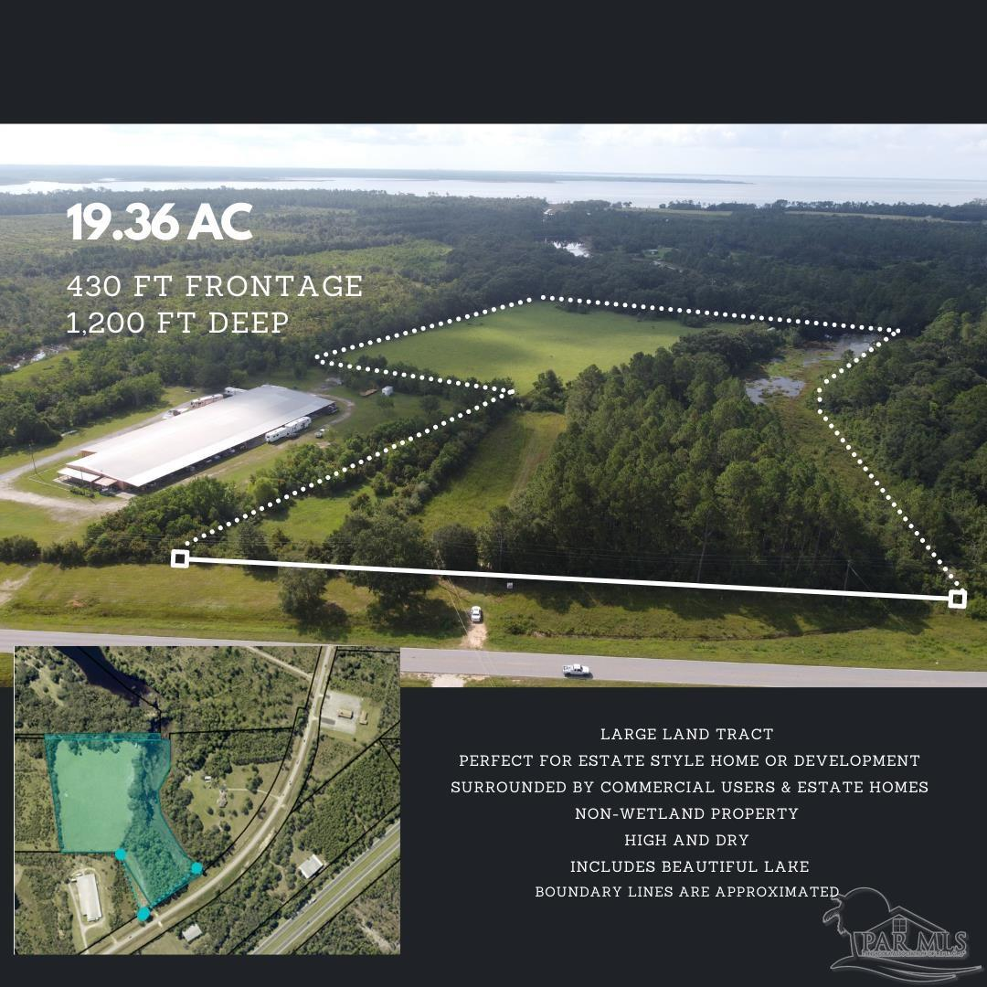 Development Opportunity -Large land tract currently Zoned AG-RR. It is in an excellent location that is surrounded by Commercial Users and estate-sized homes. The property directly across the street is in the process of being rezoned for commercial use (estimated completion November 2021)